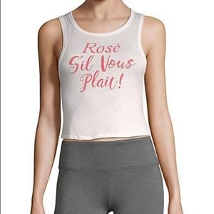 NWT Body Rags Cloth Co. Rose Si Vous  cropped top